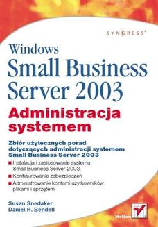 Windows Small Business Server 2003. Administracja systemem - książka