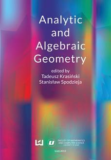 Analytic and Algebraic Geometry - ebook/pdf