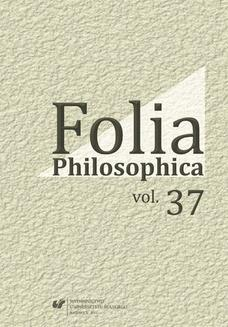 Folia Philosophica. Vol. 37 - ebook/pdf