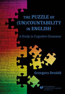 The Puzzle of (Un)Countability in English. A Study in Cognitive Grammar - ebook/pdf