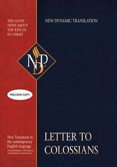 Letter to Colossians (NPD) - ebook/epub