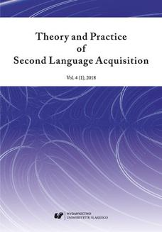 """Theory and Practice of Second Language Acquisition"" 2018. Vol. 4 (1) - ebook/pdf"