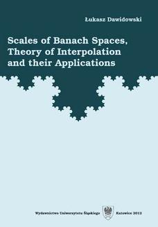 Scales of Banach Spaces, Theory of Interpolation and their Applications - ebook/pdf