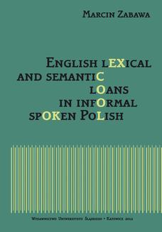 English lexical and semantic loans in informal spoken Polish - ebook/pdf