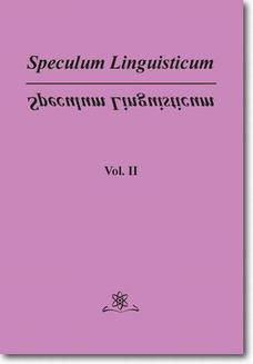 Speculum Linguisticum Vol. 2 - ebook/pdf