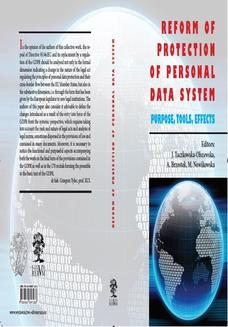 Reform Of Protection Of Personal Data System - Purpose, Tools - ebook/epub