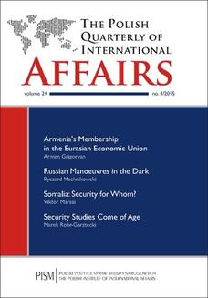 The Polish Quarterly of International Affairs nr 4/2015 - ebook/pdf