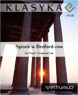 Spisek w Bedford-row - ebook/epub
