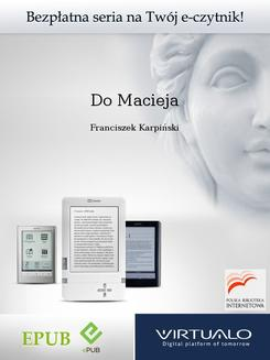Do Macieja - ebook/epub