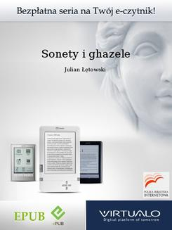 Sonety i ghazele - ebook/epub