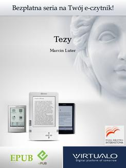 Tezy - ebook/epub