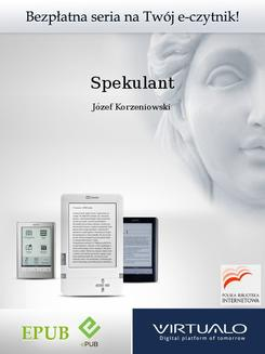 Spekulant - ebook/epub