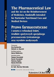 Prawo farmaceutyczne. The Pharmaceutical Law - ebook/epub