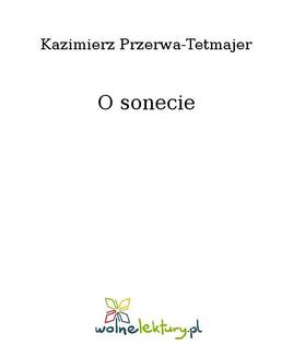 O sonecie - ebook/epub
