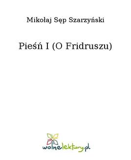 Pieśń I (O Fridruszu) - ebook/epub