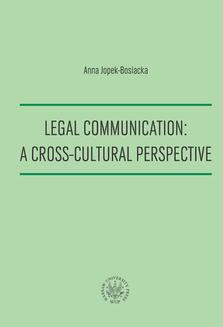 Legal Communication : A Cross-Cultural Perspective - ebook/pdf