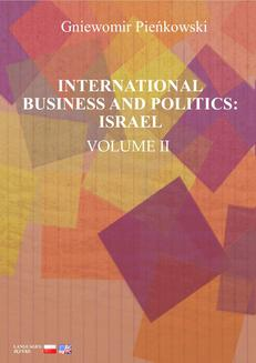 International Business and Politics. Volume II: Israel - ebook/pdf