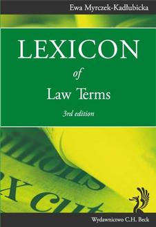 Lexicon of Law Terms - ebook/pdf
