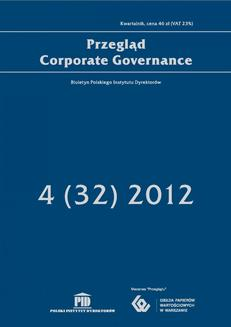 Przegląd Corporate Governance 4 (32) 2012 - ebook/pdf