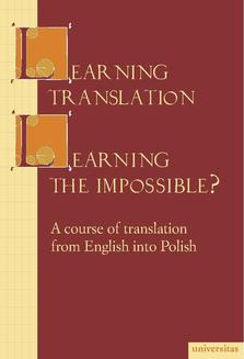 Learning translation – Learning the impossible? - ebook/pdf