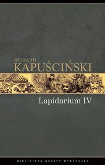 Lapidarium IV - ebook/epub