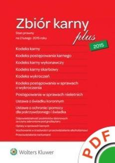 Zbiór karny plus 2015  - ebook/pdf
