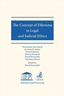 The Concept of Dilemma in Legal and Judicial Ethics - ebook/pdf