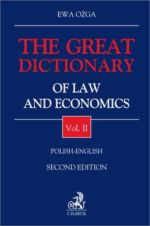 The Great Dictionary of Law and Economics. Vol. II. Polish - English - ebook/pdf