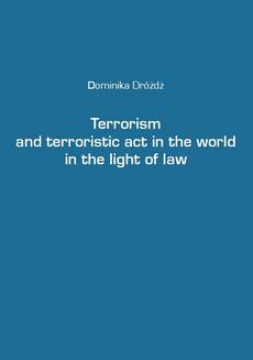 Terrorism and terroristic act in the world in the light of law - ebook/epub