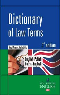 Dictionary of Law Terms. Słownik terminologii prawniczej English-Polish/Polish-English - ebook/pdf