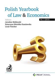 Polish Yearbook of Law and Economics. Vol. 1 (2010) - ebook/pdf