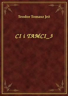Ci I Tamci 3 - ebook/epub