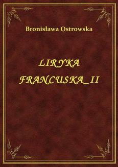Liryka Francuska II - ebook/epub