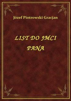 List Do Jmci Pana - ebook/epub