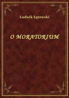 O Moratorium - ebook/epub