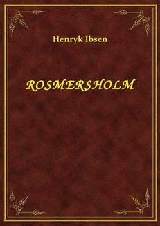 Rosmersholm - ebook/epub